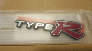 Honda Integra DC5R rear emblem