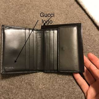 [👛 Rare 90' Vintage] Gucci Leather Wallet with metal edge/ Gucci 金屬包邊銀包