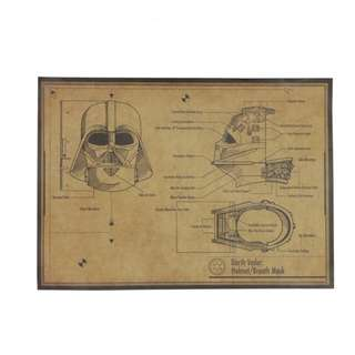 Darth Vader: Helmet and Breath Mask Poster