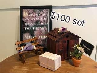 「幸福傳承」婚禮賓客留言小屋(連卡紙約50張)