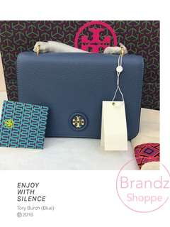 👍👍👍Best Deal! Tory Burch Whipstitch Logo Adjustable Chain Crossbody Bag @ Ready Stock!!!