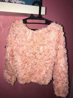 Flower bloom sweater
