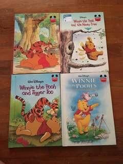 Set of 4 Disney's Winnie The Pooh books