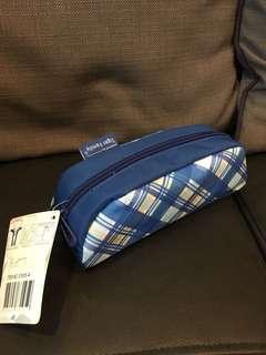 專櫃品牌 鉛筆袋-藍格