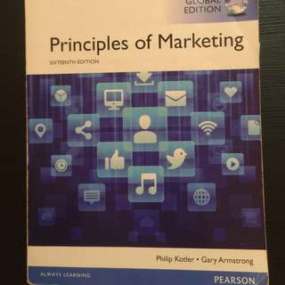 Principles of marketing, Kotler, Philip and Gary Armstrong, 16th edition