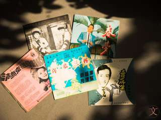 DC032 5 pcs Chinese vinyl records