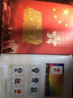 6 sets of stamps on the exercise of sovereignty over HK.