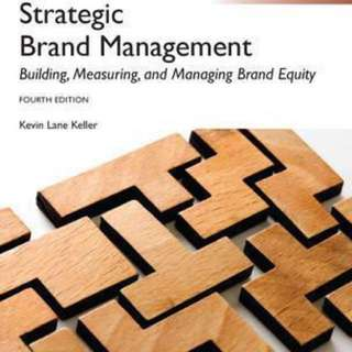 Strategic Brand Management softcopy text book
