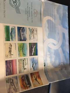 Cathay Pacific 50th anniversary stamps vintage 國泰航空50周年紀念郵票 飛機愛好者