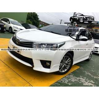 【FB搜尋桃園阿承】豐田 超人氣ALTIS Z 2014年 1.8 白色 二手車 中古車