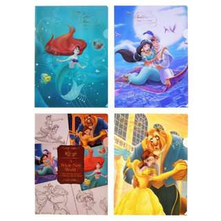 JAPAN DISNEYSTORE, JAPAN IMPORTED: File Set Series: 4 PC D23 Expo Japan 2018 Princess Story File