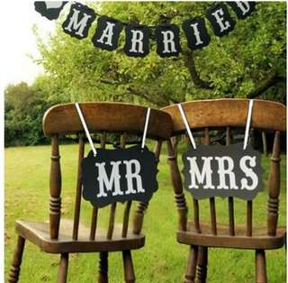 Wedding Photoprops - MR & MRS