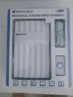 Mechanical striking wired doorbell