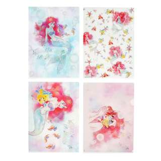 JAPAN DISNEYSTORE, JAPAN IMPORTED: File Set Series: 4 PC THE LITTLE MERMAID 2018 File set