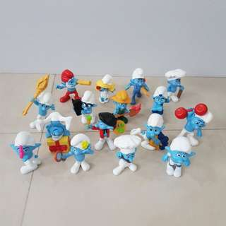 Smurfs From USA McDonald, Full Set Of 16, Collectible