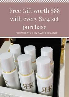 R3r toner cleanser full set with FREE Gifts