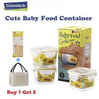 ❤️(BUY 1 GET 3)❤️ Baby Food Container With Free Spoon and Bag❤️