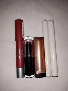 Lipstick Bundle (Revlon, WetnWild, Maybelline & Colourpop)