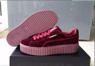 Fenty PUMA by rihanna velvet creepers shoes burgundy