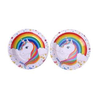 🦄 Unicorn theme party supplies - party plates