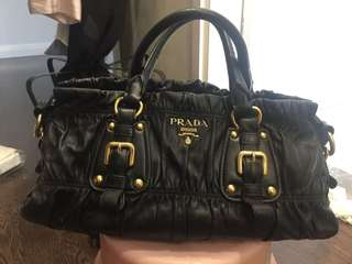 Prada Bag lamb leather (was rose color; refurbish to black color)