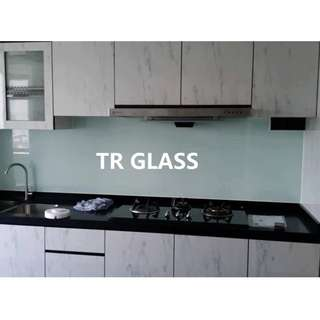 Clear White Tempered Backsplash (Quote by Size)