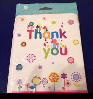 BN thank you greetings cards