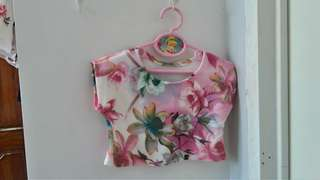 floral terno for baby girls