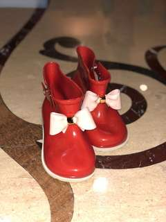 Mini Melissa Like Bow Red Boots