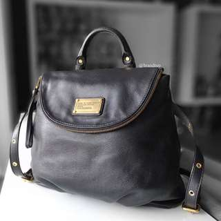 Authentic Marc By Marc Jacobs Black Mariska Leather Backpack