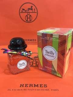 全新 Hermes twilly 淡香精 85ml 全新盒裝有封膜 附:緞帶、紙袋