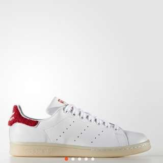 AUthentic Adidas Stan Smith white red some leather