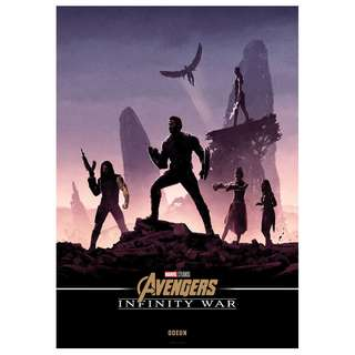 Infinity war pentaptych uk posters