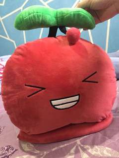 Cherry Pillow with Blanket