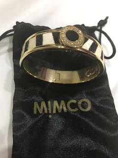 Mimco zebra hinged bangle