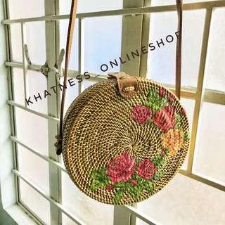 floral art bag