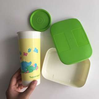 TUPPERWARE tiwi series lunchbox and water cup