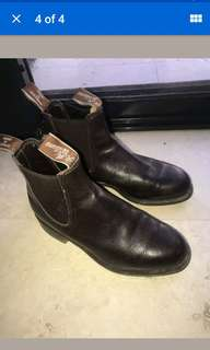 RM Williams brown boots size 4G
