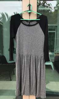 Forever 21 Grey and Black Dress