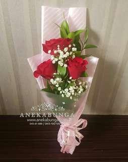 Bunga hand bouquet birthday - graduation - mother's day - ulang tahun - annipersary - congratulation