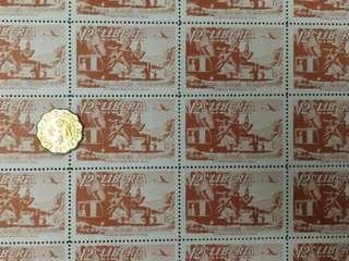 少有版票Liberia(1953)12C航空郵票,全版25枚只售$15, 版票系列(29)