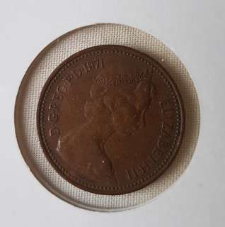 1971 1p NEW PENCE