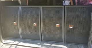 Xenon speakers with amplifier and mixer