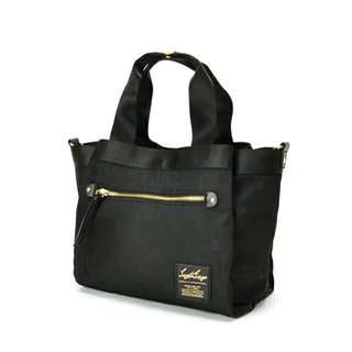 ✳ Black Authentic Legato Largo Nylon Middle Tote bag - ready stock