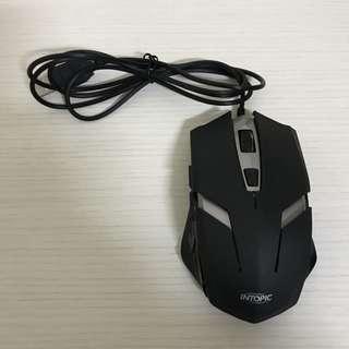 INTOPIC 飛碟光學鼠 UFO-MS-079 usb滑鼠 黑色有線滑鼠 黑色電競滑鼠 飛碟光學滑鼠