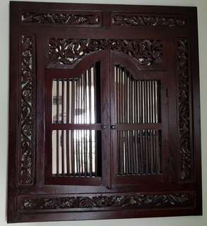 Peranakan Window (teak wood)