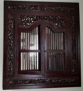 Peranakan Window (teak wood)