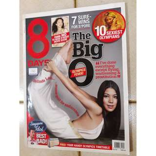 8 Days magazine  - Belinda Lee  Olympics issue