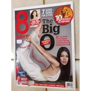 8 Days magazine  - Belinda Lee  Olympics issue