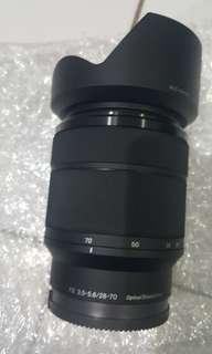 Lensa sony 28 70 f3.5 copotan dari alfa 7
